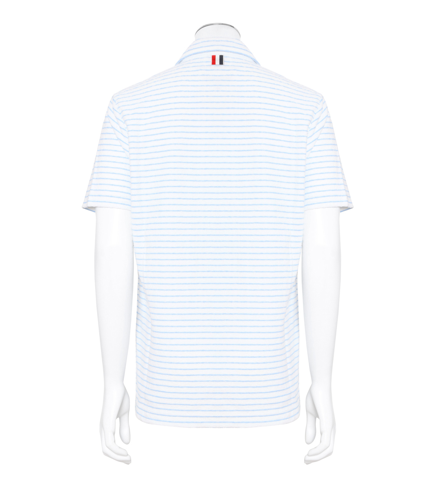 Thom Browne(トムブラウン)のChalk Stripe Polo-WHITE(カットソー/cut and sewn)-MJP032A01429-4 拡大詳細画像2