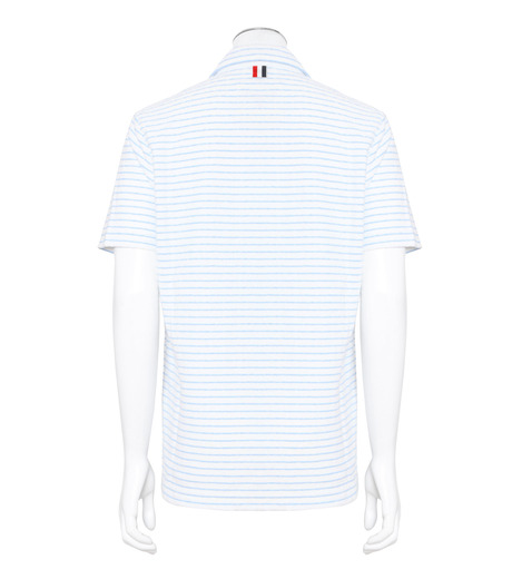 Thom Browne(トムブラウン)のChalk Stripe Polo-WHITE(カットソー/cut and sewn)-MJP032A01429-4 詳細画像2