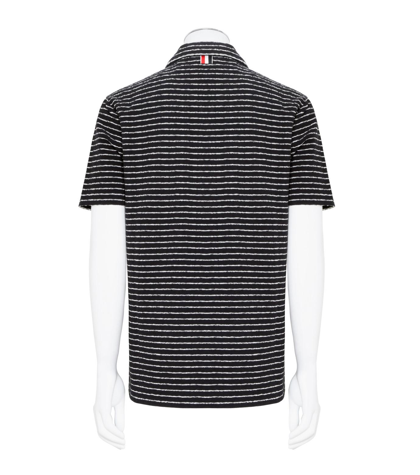 Thom Browne(トムブラウン)のChalk Stripe Polo-NAVY(カットソー/cut and sewn)-MJP032A01429-93 拡大詳細画像2