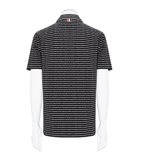 Thom Browne(トムブラウン)のChalk Stripe Polo-NAVY(カットソー/cut and sewn)-MJP032A01429-93 詳細画像2