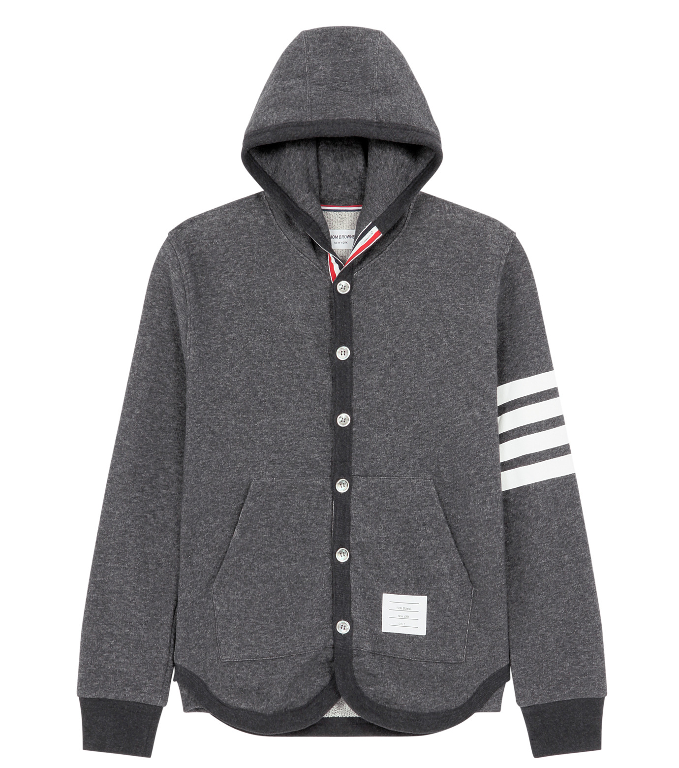 Thom Browne(トムブラウン)のButton up hoodie-GRAY-MJT003A5139-11 拡大詳細画像1