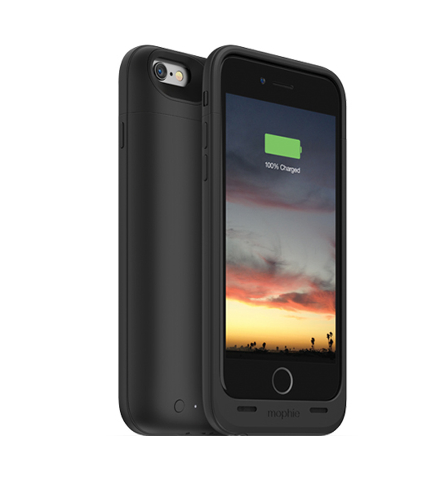 Mophie(モーフィー)のmophie juice pack air for iPhone 6-BLACK(ケースiphone6/6s/case iphone6/6s)-MOP-PH-0068-13 拡大詳細画像1