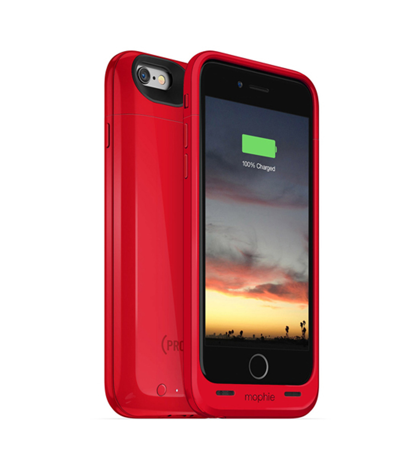 Mophie(モーフィー)のmophie juice pack air for iPhone 6-RED(ケースiphone6/6s/case iphone6/6s)-MOP-PH-0092-62 拡大詳細画像1