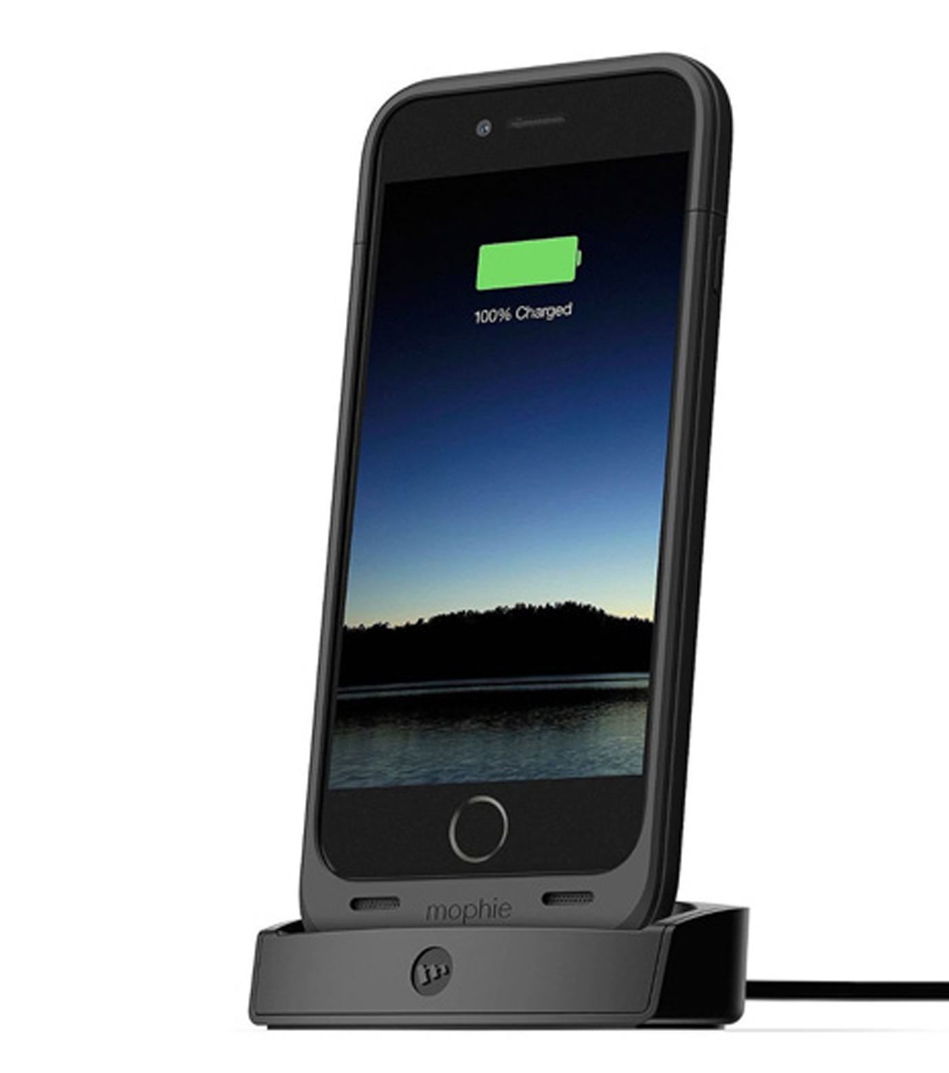 Mophie(モーフィー)のmophie juice pack dock iPhone 6-BLACK(ケースiphone6/6s/case iphone6/6s)-MOP-PH-106-13 拡大詳細画像1