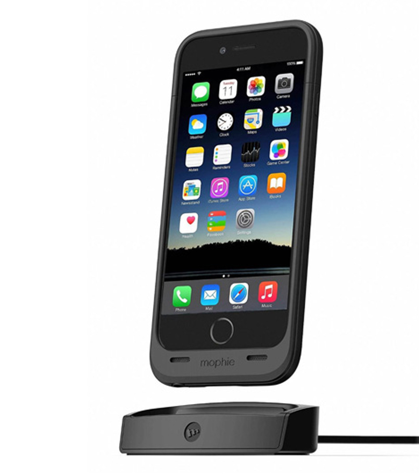 Mophie(モーフィー)のmophie juice pack dock iPhone 6-BLACK(ケースiphone6/6s/case iphone6/6s)-MOP-PH-106-13 拡大詳細画像4