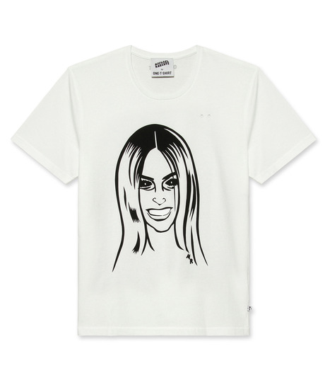 ONE T SHIRT(ワンティーシャツ)のCarine-WHITE(T-SHIRTS/T-SHIRTS)-MR-CARINE-4 詳細画像1