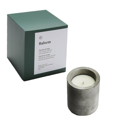 BALSEM()のCONCRETE CANDLE CYPRESS/SAGE 227g-WHITE(FRAGRANCE-GROOMING/FRAGRANCE-GROOMING)-MS-31026B-4 詳細画像1