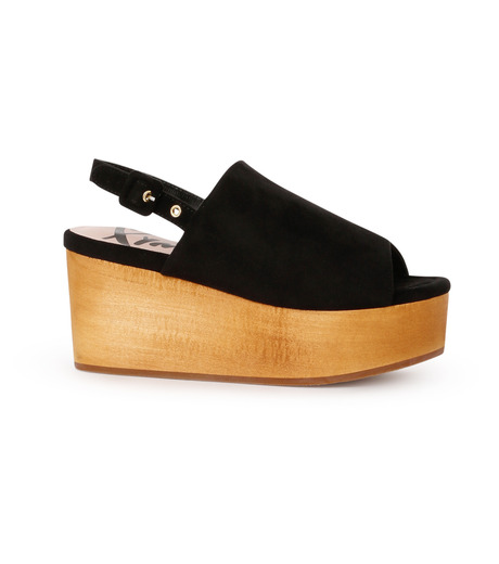 Myneself(マインセルフ)のFake Suede Sandal-BLACK(フラットシューズ/Flat shoes)-MSS7-0010-13 詳細画像1