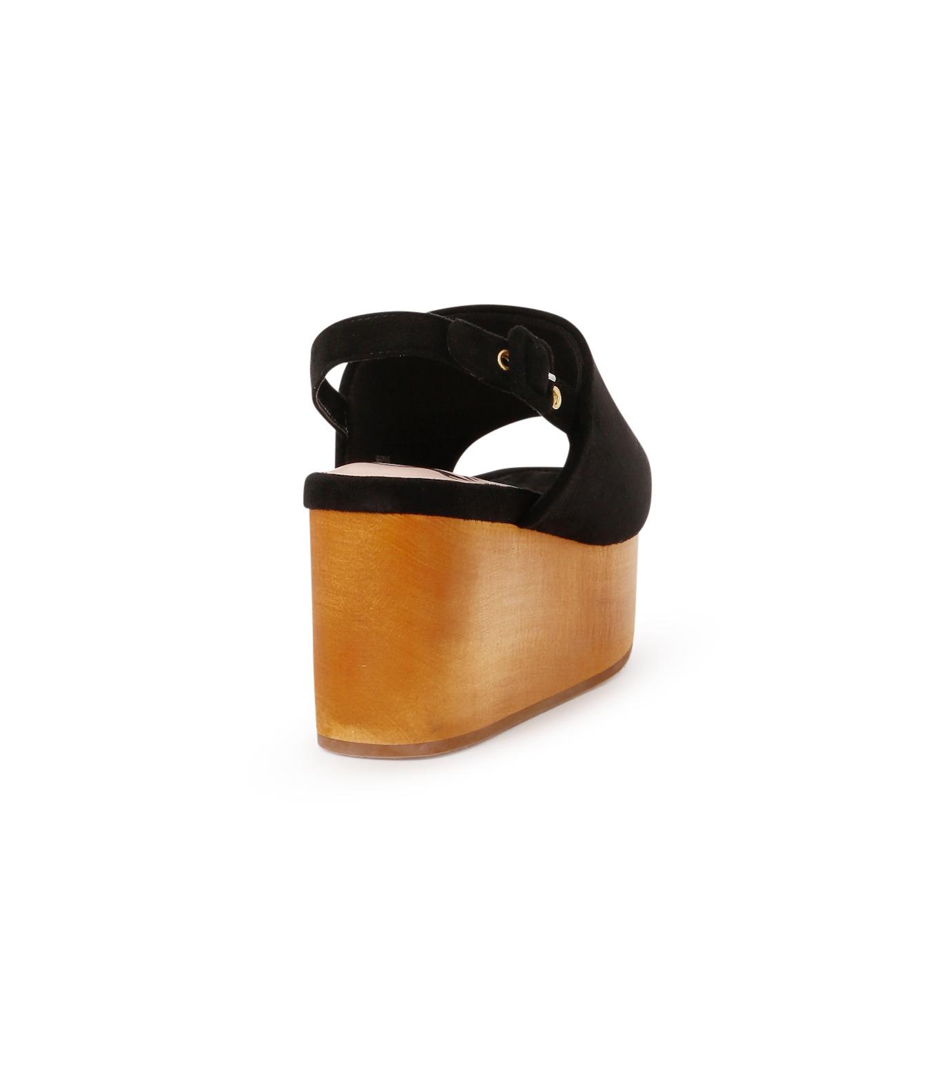 Myneself(マインセルフ)のFake Suede Sandal-BLACK(フラットシューズ/Flat shoes)-MSS7-0010-13 拡大詳細画像3