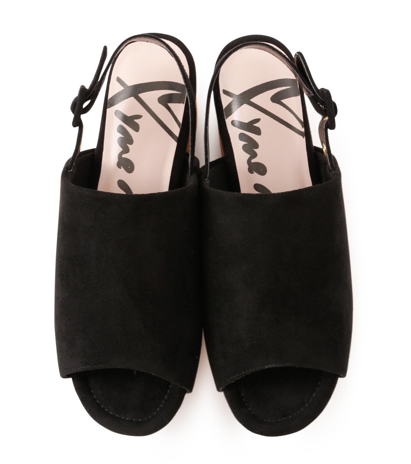 Myneself(マインセルフ)のFake Suede Sandal-BLACK(フラットシューズ/Flat shoes)-MSS7-0010-13 拡大詳細画像4