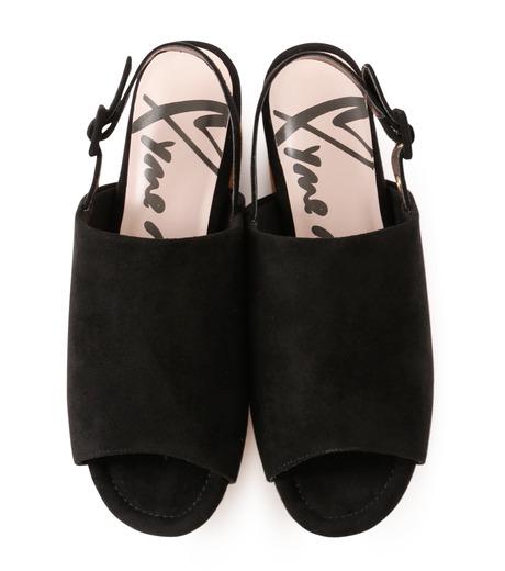 Myneself(マインセルフ)のFake Suede Sandal-BLACK(フラットシューズ/Flat shoes)-MSS7-0010-13 詳細画像4