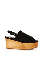 Myneself Fake Suede Sandal