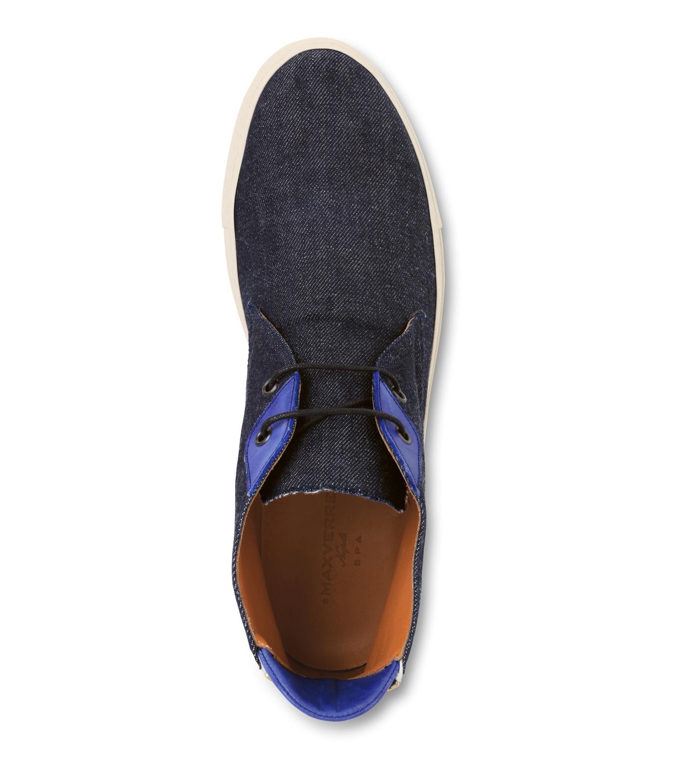 Max Verre(マックス ヴェッレ)のDenim chucker Boots-INDIGO(シューズ/shoes)-MV1003-94 拡大詳細画像4
