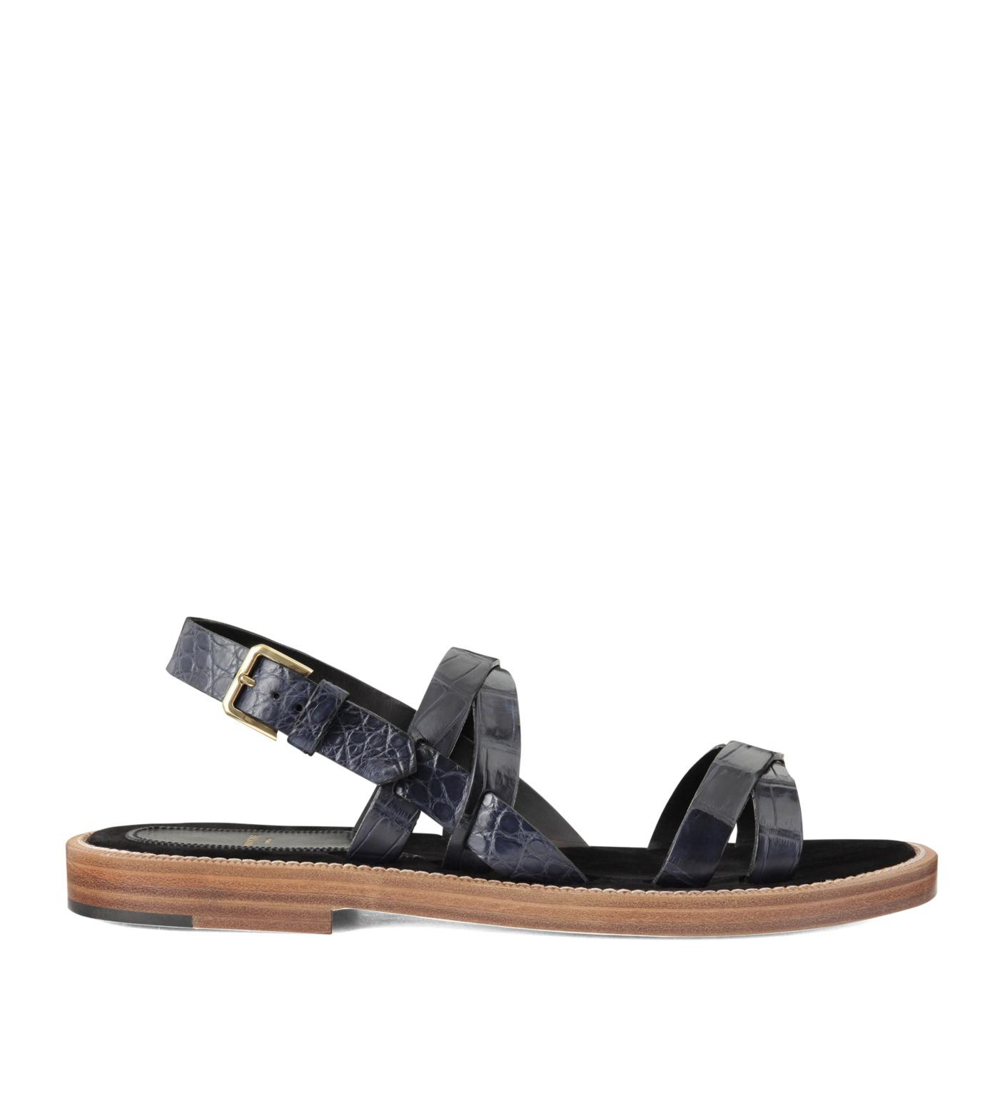 Max Verre(マックス ヴェッレ)のCross Strap Sandal-BLUE(シューズ/shoes)-MV918-POSITA-92 拡大詳細画像1