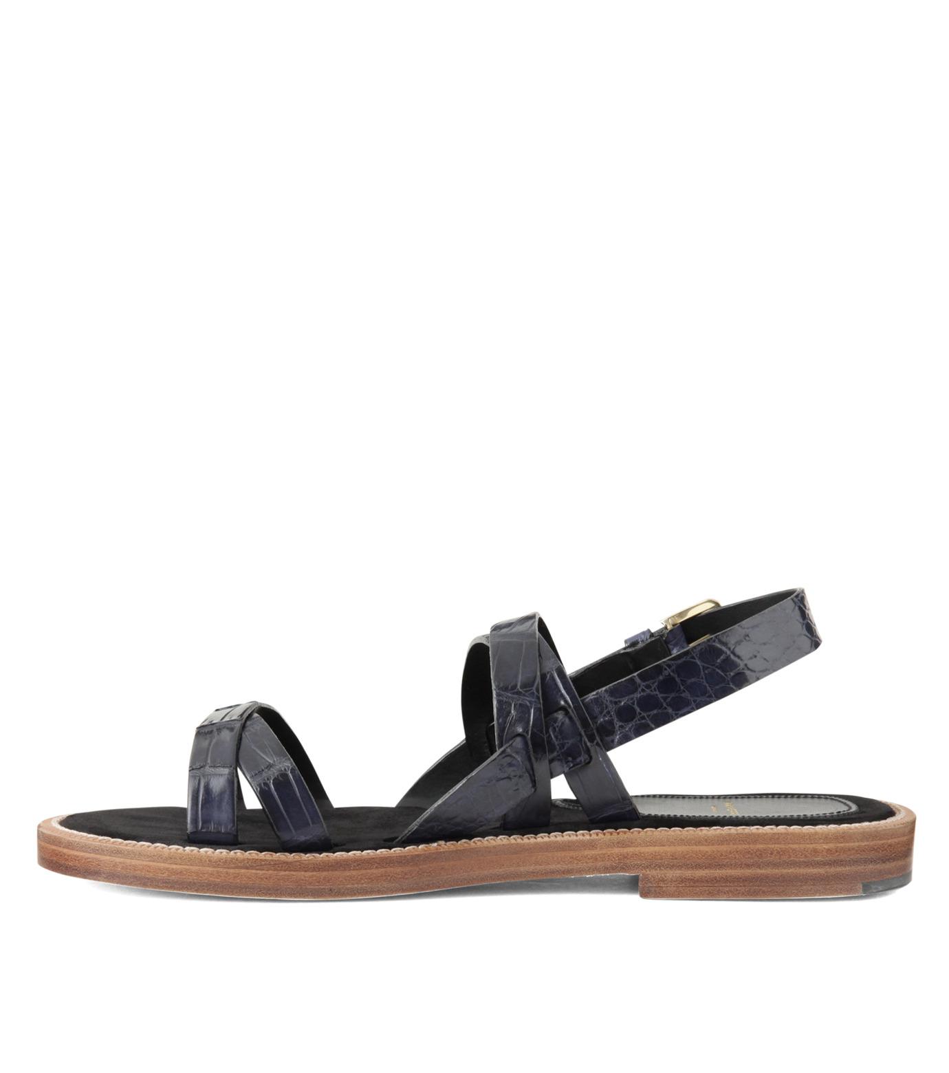 Max Verre(マックス ヴェッレ)のCross Strap Sandal-BLUE(シューズ/shoes)-MV918-POSITA-92 拡大詳細画像2