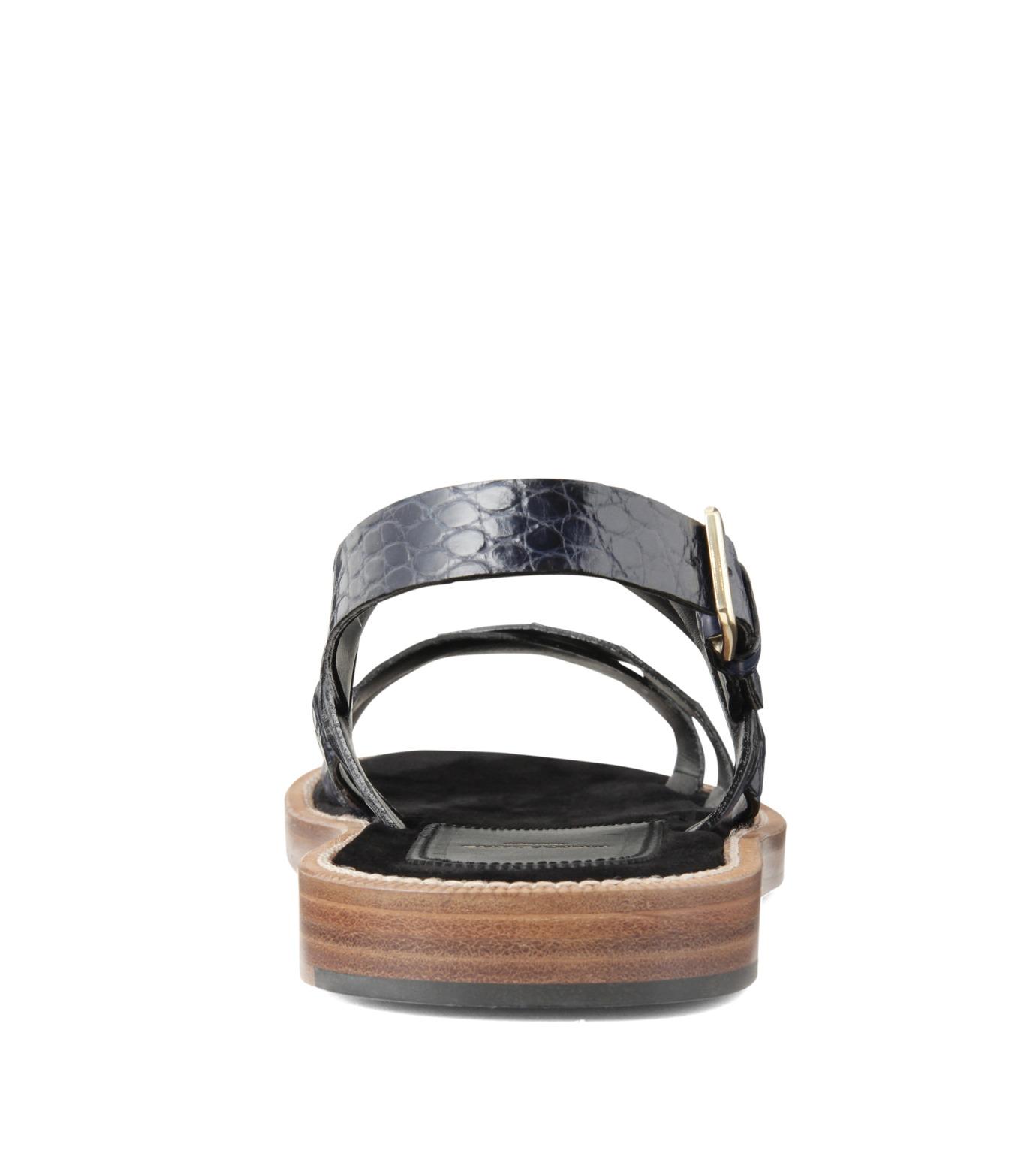 Max Verre(マックス ヴェッレ)のCross Strap Sandal-BLUE(シューズ/shoes)-MV918-POSITA-92 拡大詳細画像3