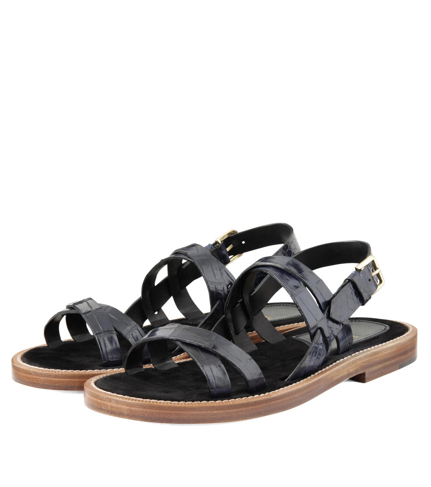 Max Verre(マックス ヴェッレ)のCross Strap Sandal-BLUE(シューズ/shoes)-MV918-POSITA-92 拡大詳細画像4
