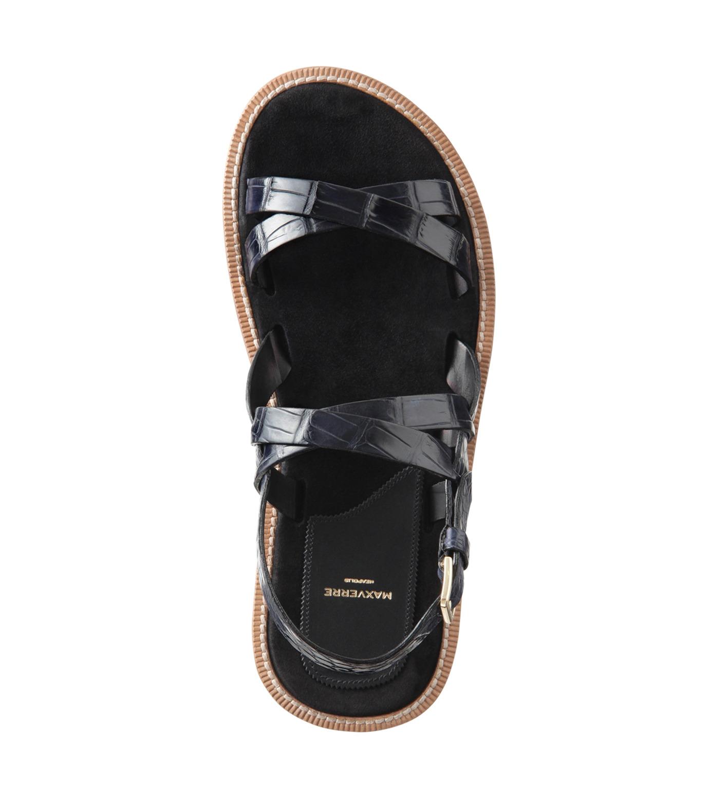 Max Verre(マックス ヴェッレ)のCross Strap Sandal-BLUE(シューズ/shoes)-MV918-POSITA-92 拡大詳細画像5