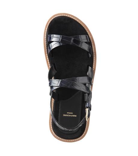 Max Verre(マックス ヴェッレ)のCross Strap Sandal-BLUE(シューズ/shoes)-MV918-POSITA-92 詳細画像5