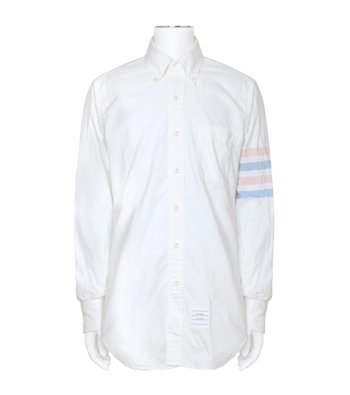 Thom Browne(トムブラウン)のStripe Oxford Shirt-WHITE(シャツ/shirt)-MWL001A00245-4 拡大詳細画像1