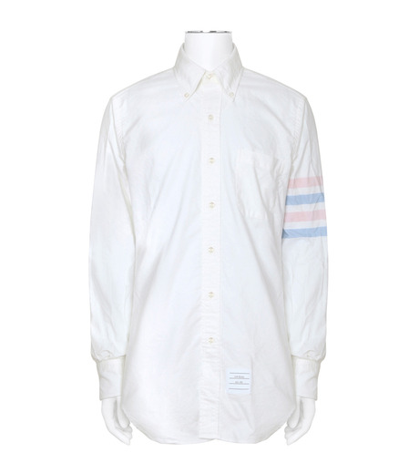 Thom Browne(トムブラウン)のStripe Oxford Shirt-WHITE(シャツ/shirt)-MWL001A00245-4 詳細画像1