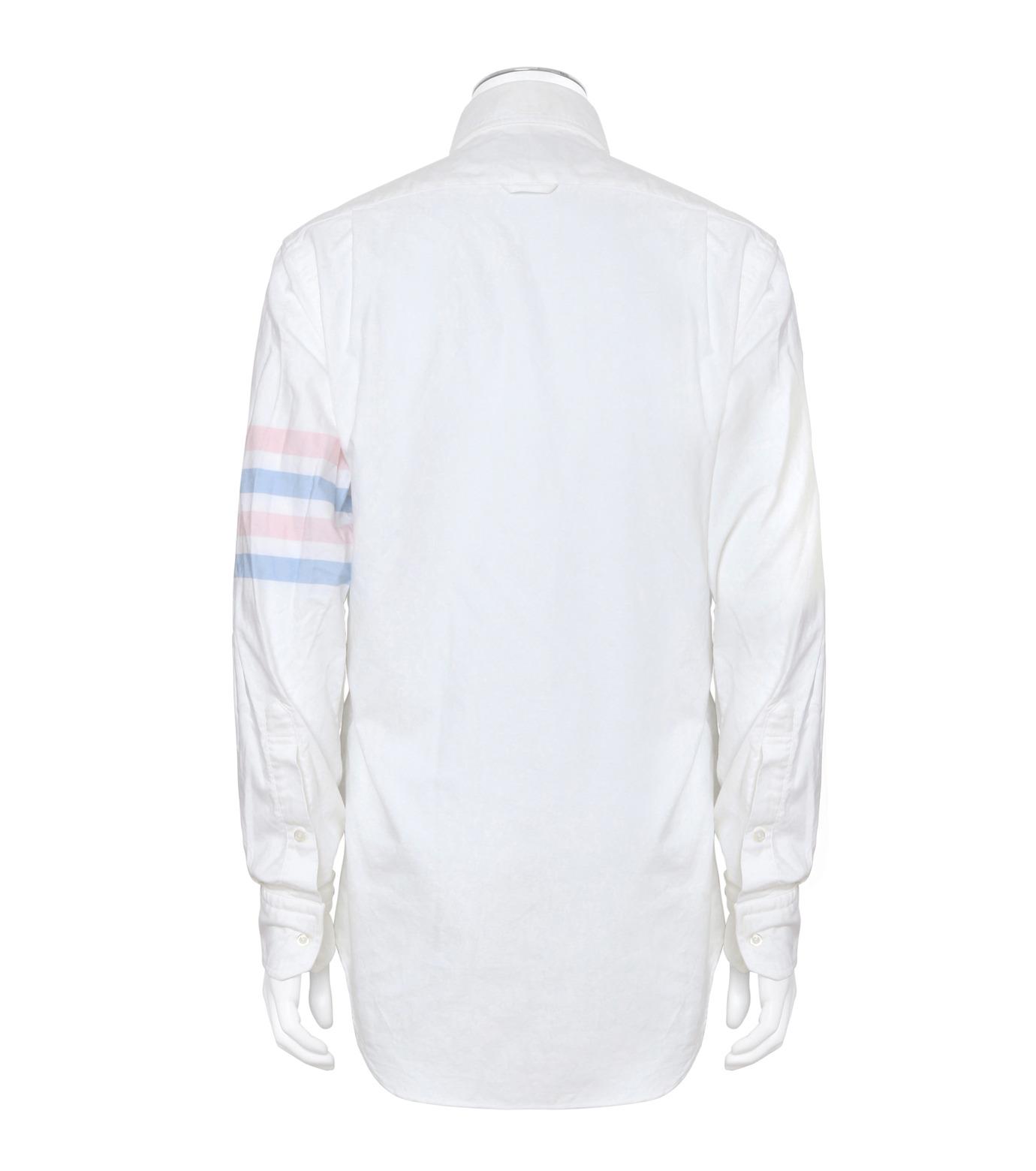 Thom Browne(トムブラウン)のStripe Oxford Shirt-WHITE(シャツ/shirt)-MWL001A00245-4 拡大詳細画像2
