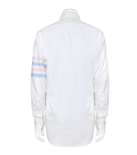 Thom Browne(トムブラウン)のStripe Oxford Shirt-WHITE(シャツ/shirt)-MWL001A00245-4 詳細画像2