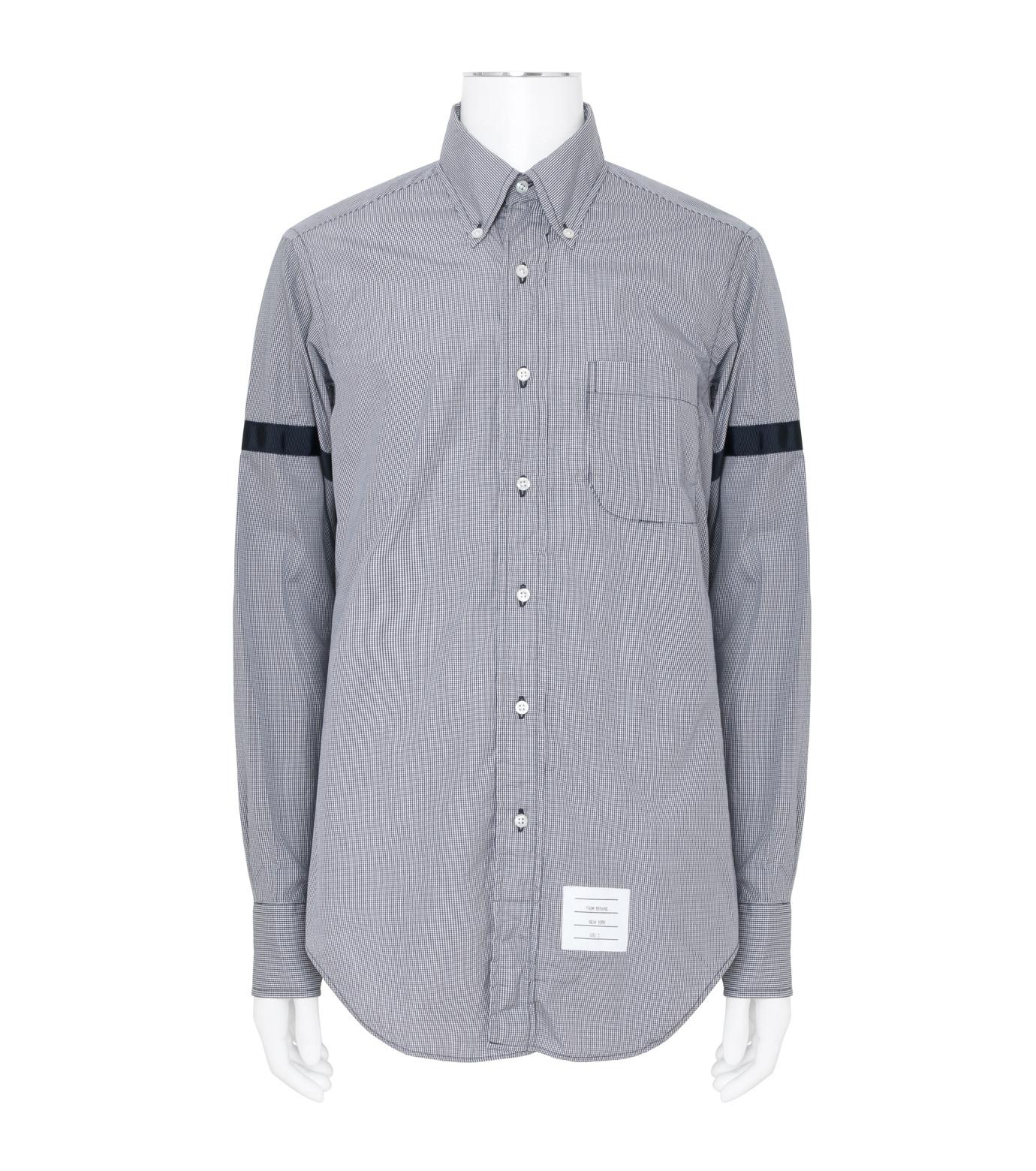 Thom Browne(トムブラウン)のArmband Check Shirt-NAVY(シャツ/shirt)-MWL150E01489-93 拡大詳細画像1