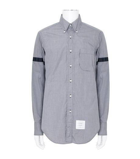 Thom Browne(トムブラウン)のArmband Check Shirt-NAVY(シャツ/shirt)-MWL150E01489-93 詳細画像1