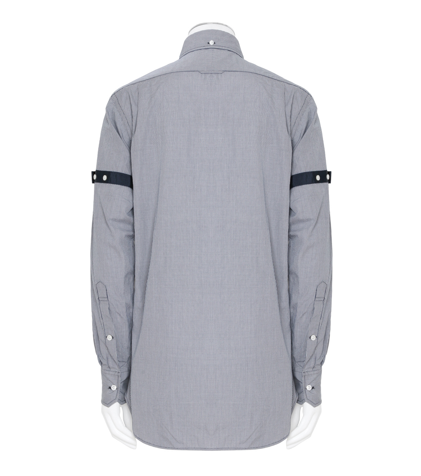 Thom Browne(トムブラウン)のArmband Check Shirt-NAVY(シャツ/shirt)-MWL150E01489-93 拡大詳細画像2