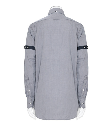 Thom Browne(トムブラウン)のArmband Check Shirt-NAVY(シャツ/shirt)-MWL150E01489-93 詳細画像2