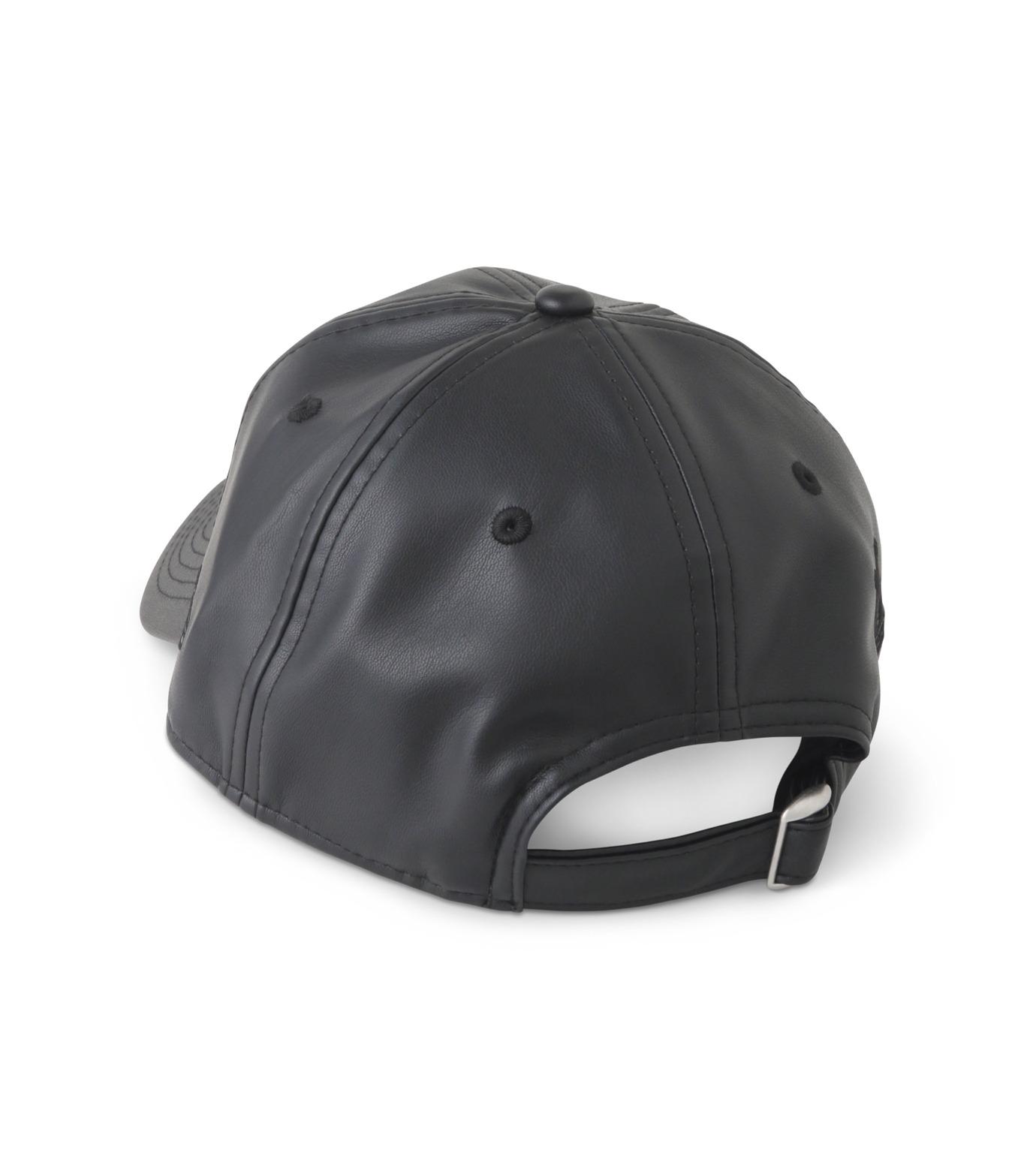 MYne(マイン)の920 Fake Leather Cap-BLACK(キャップ/cap)-MYA8-0004-13 拡大詳細画像2