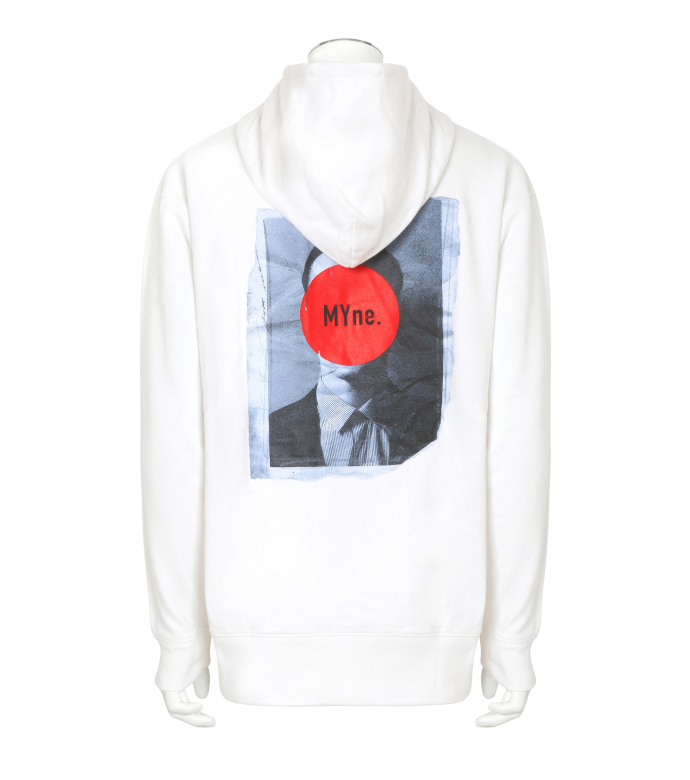 MYne(マイン)のFace Printed Hoodie-WHITE(トップス/tops)-MYC8C415-4 拡大詳細画像2