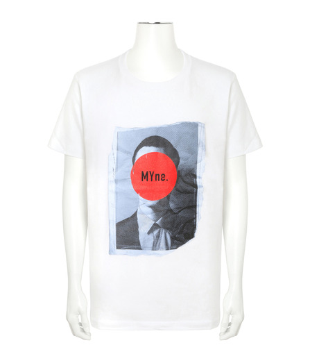 MYne(マイン)のFace Printed T-WHITE(カットソー/cut and sewn)-MYC8C417-4 詳細画像1