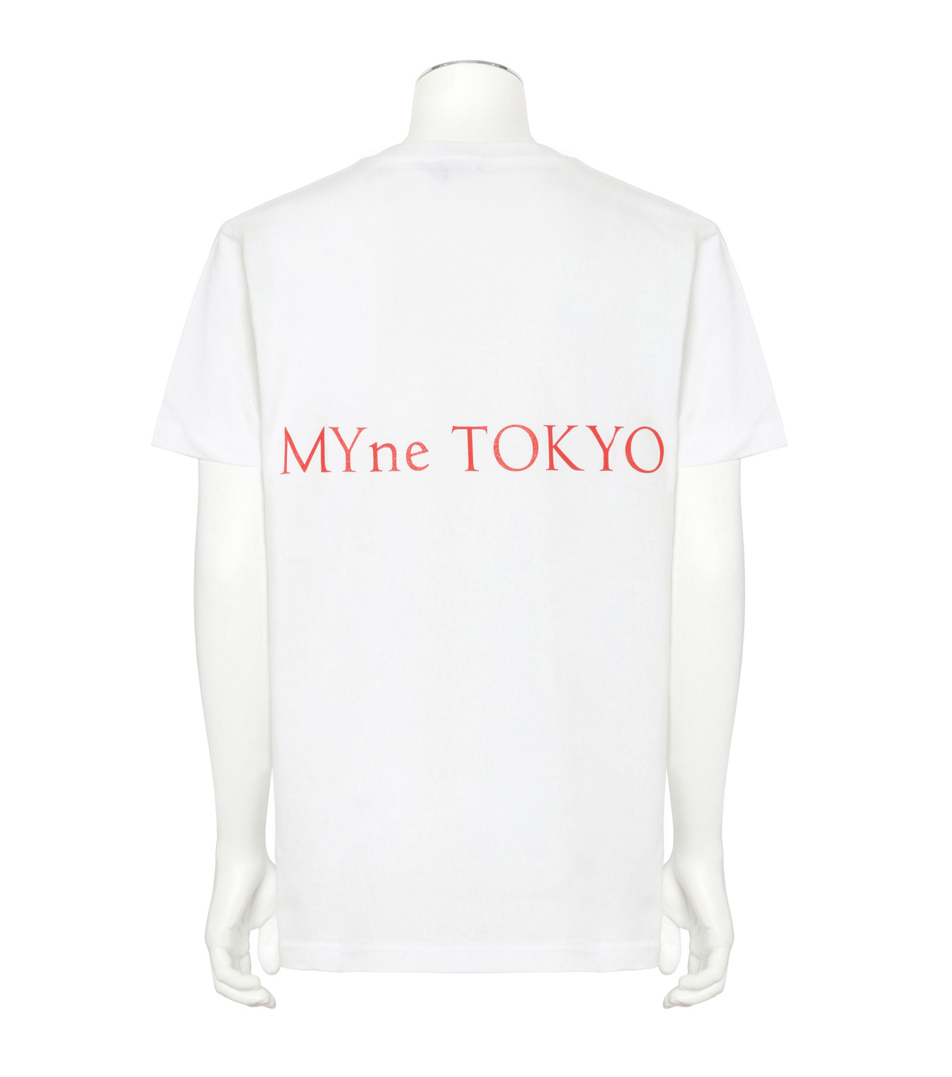 MYne(マイン)のFace Printed T-WHITE(カットソー/cut and sewn)-MYC8C417-4 拡大詳細画像2