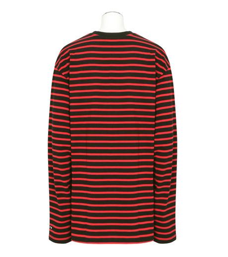 MYne(マイン)のBorder Longsleeve-RED(カットソー/cut and sewn)-MYC8C426-62 詳細画像2