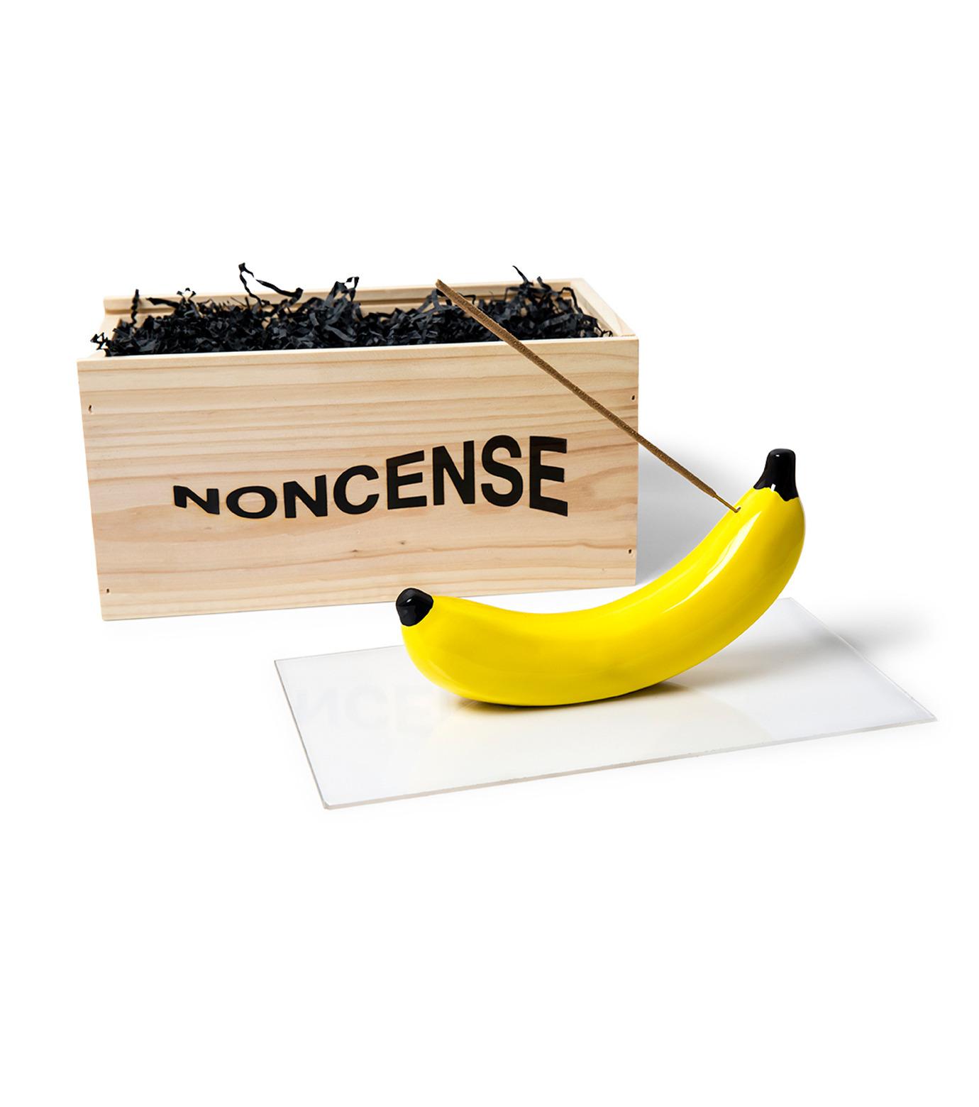 NONCENSE(ノンセンス)のNoncesne Banana ceramic incense burner-YELLOW(インテリア/interior)-N1-32 拡大詳細画像3