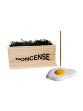 NONCENSE Noncesne Fried Egg ceramic incense burner