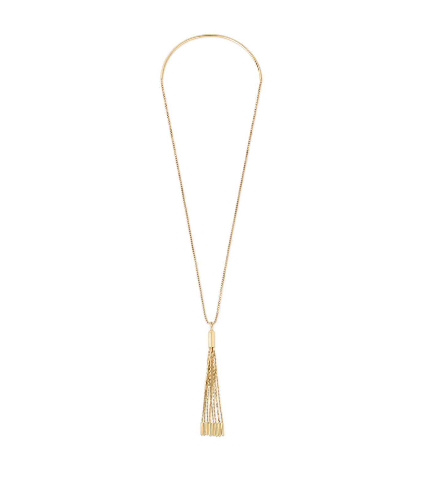 Eddie Borgo(エディ・ボルゴ)のNeo Tassel Pendant-GOLD(ネックレス/necklace)-NK2010-2 拡大詳細画像1