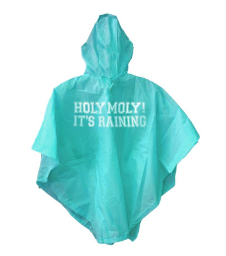 npw()のPONCHO HOLY MOLY ITS RAINING-BLUE(アザーズ/others)-NP21127-92 詳細画像1