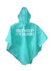 npw PONCHO HOLY MOLY ITS RAINING