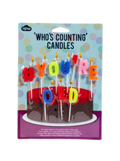 npw Candles - Hashtag # You're old