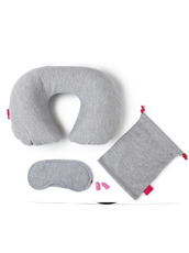 npw() Pink In Flight Kit - Grey Marl