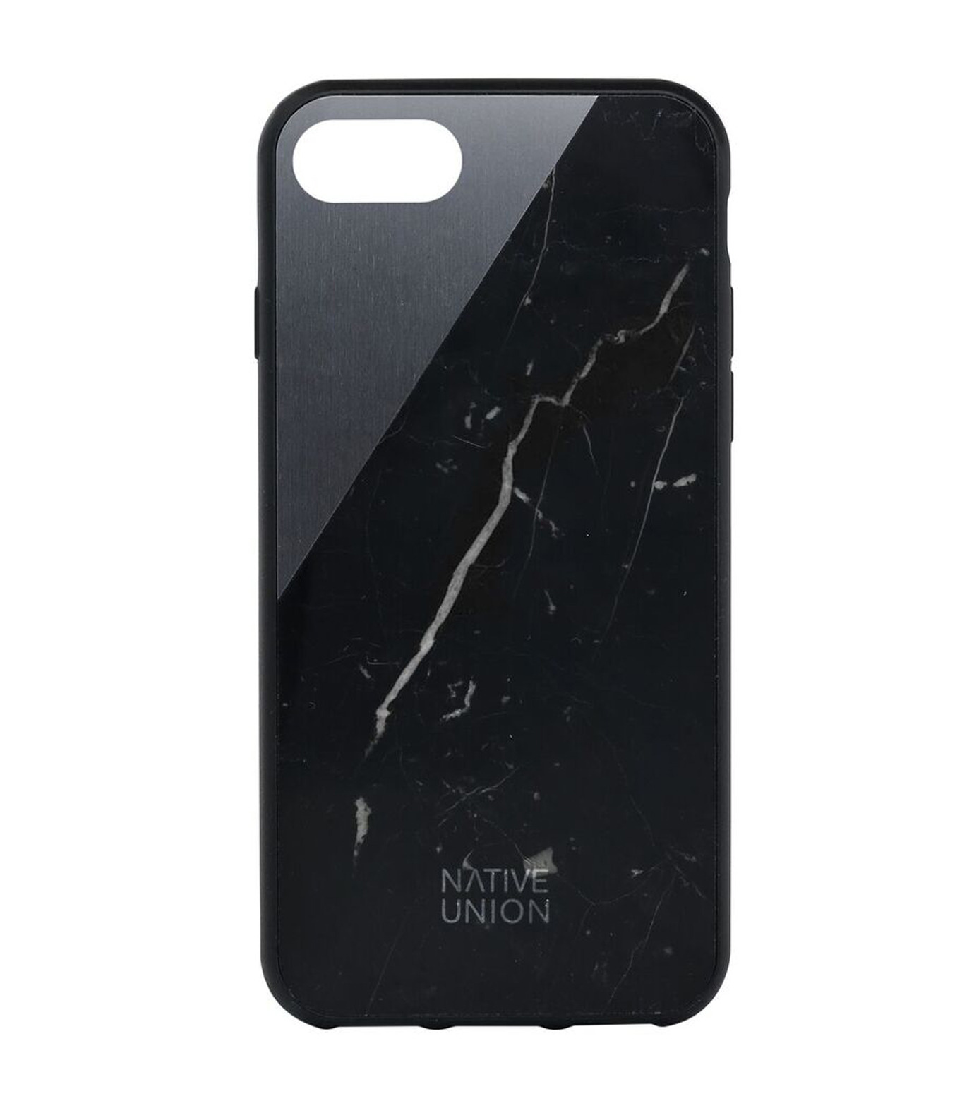 Native Union(ネイティブ ユニオン)のCLIC Marble-BLACK(ケースiphone7/7plus/case iphone7/7plus)-NU-C-MB-7-01-13 拡大詳細画像1