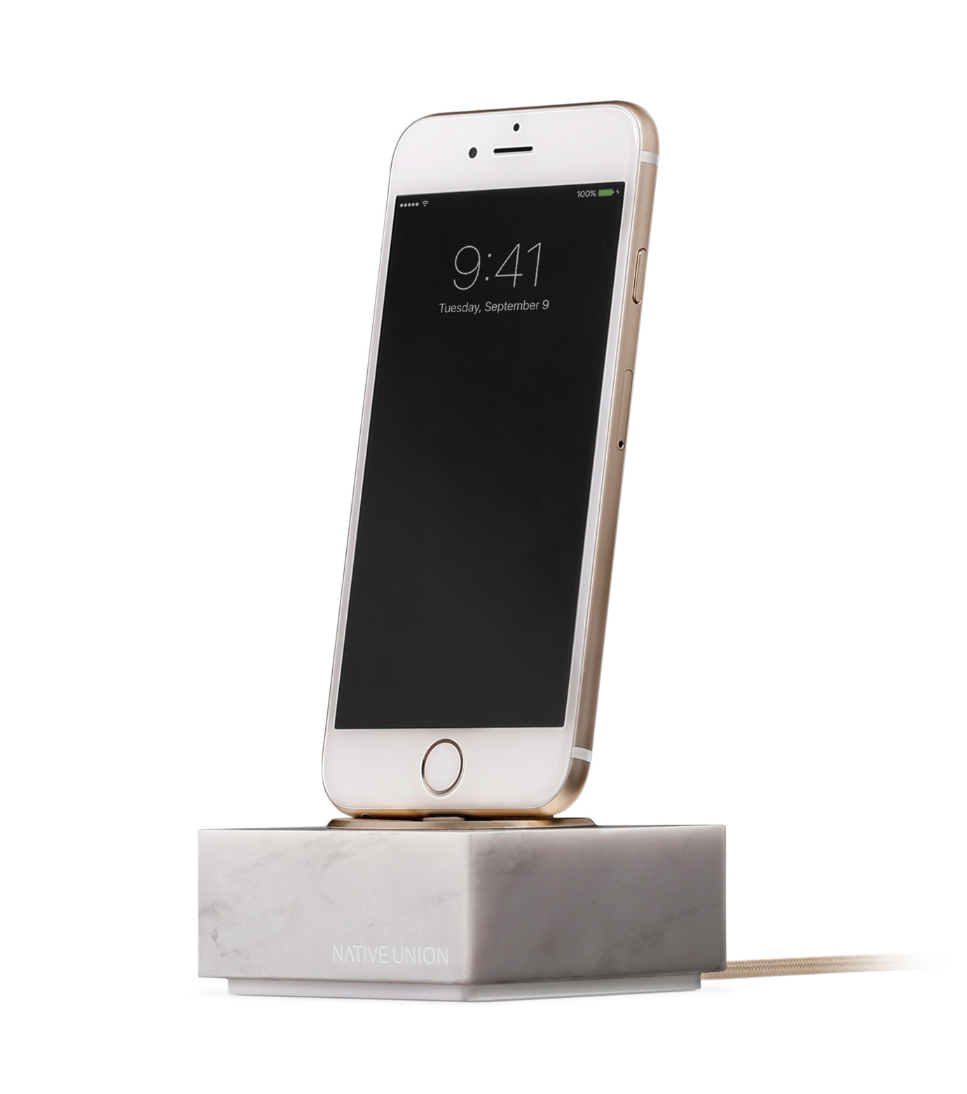 Native Union(ネイティブ ユニオン)のDOCK FOR IPHONE MARBLE-WHITE(ガジェット/gadgets)-NU-DOCK-IP02-4 拡大詳細画像1