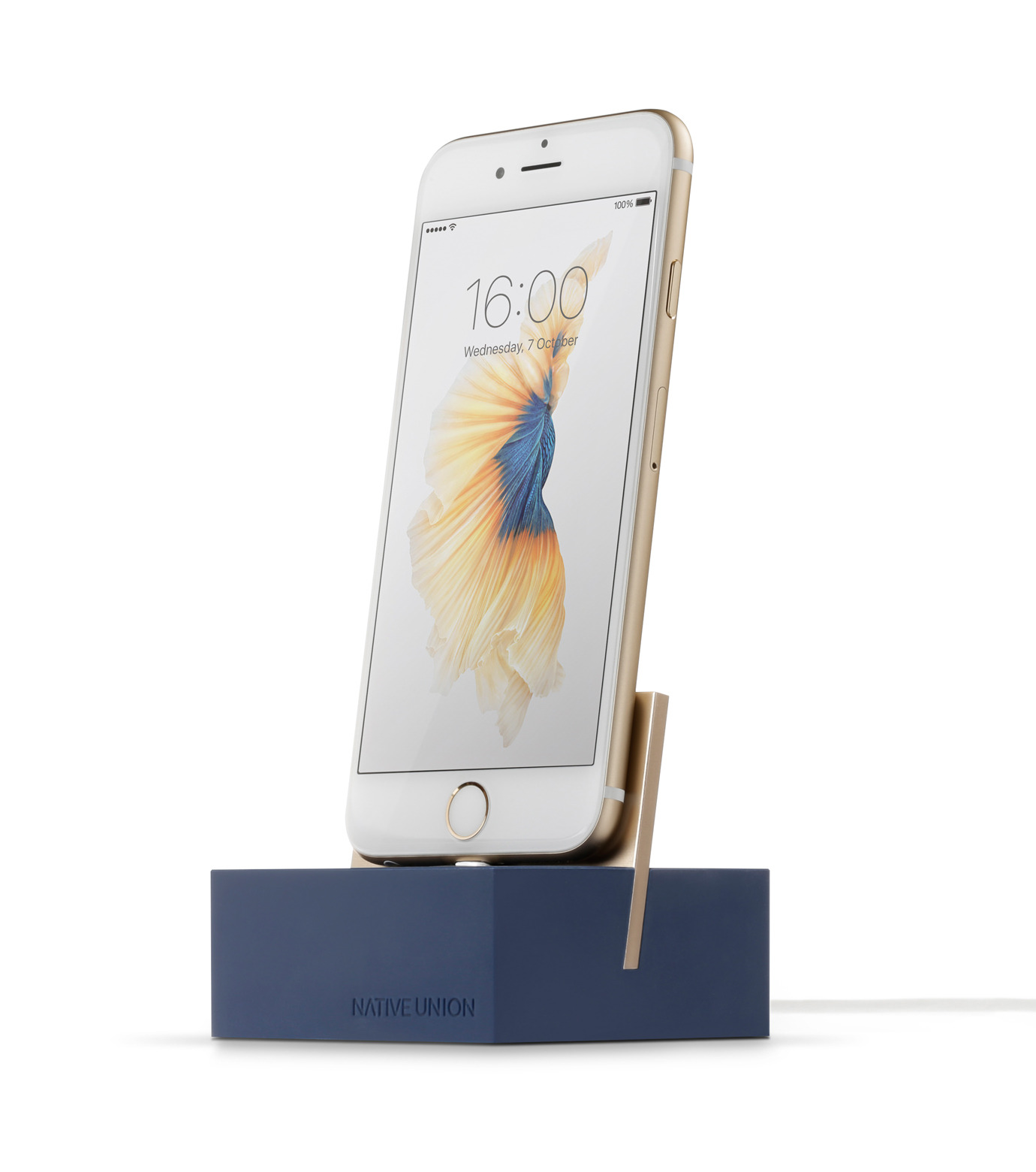 Native Union(ネイティブ ユニオン)のDOCK FOR IPHONE WITH 1.2M CABLE-MARI-NAVY(ガジェット/gadgets)-NU-DOCK-IPC4-93 拡大詳細画像1