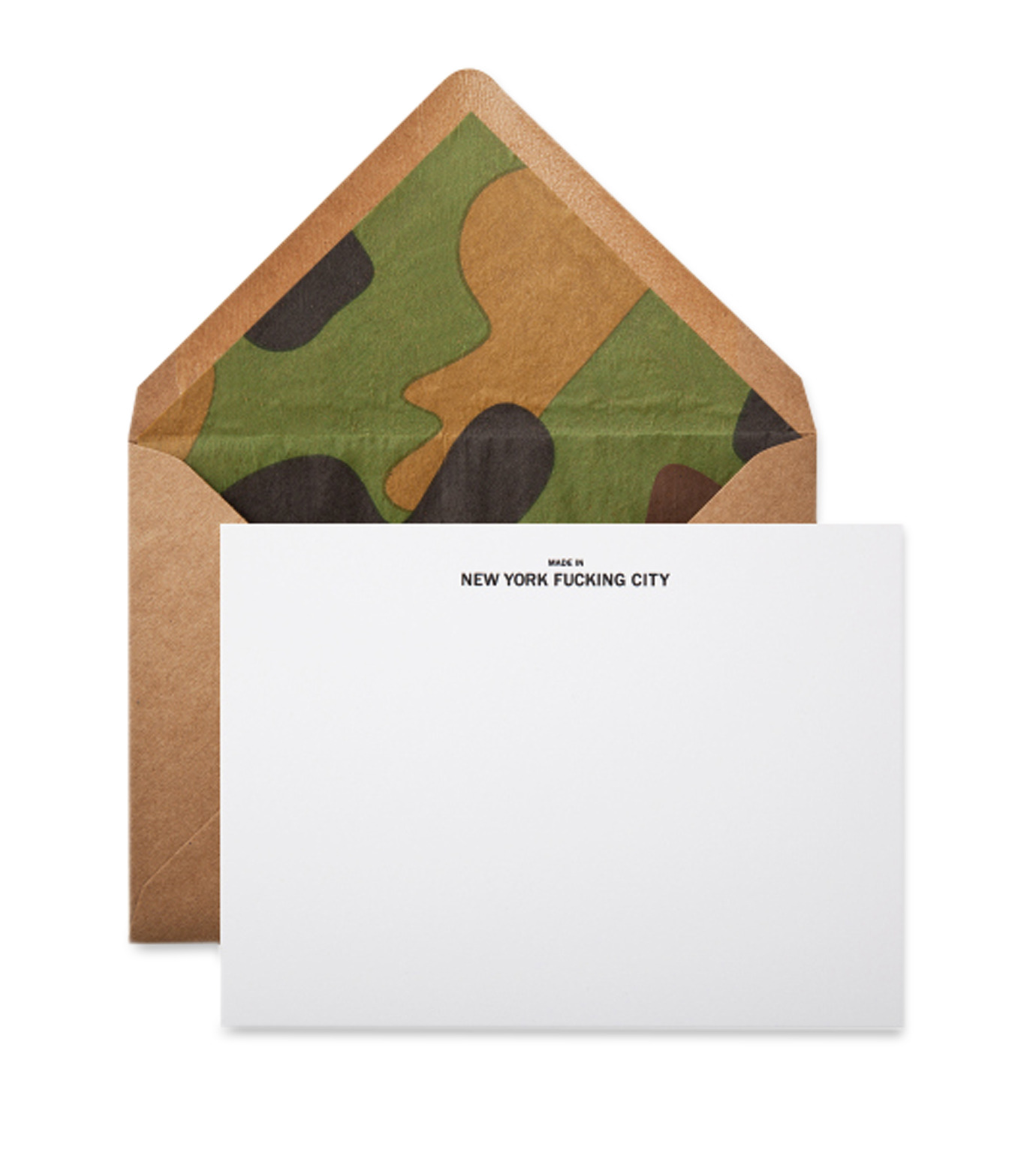 Terrapin Stationers()のMade in nyfc note card-KHAKI(アザーズ/others)-NYFC-Camo-24 拡大詳細画像1