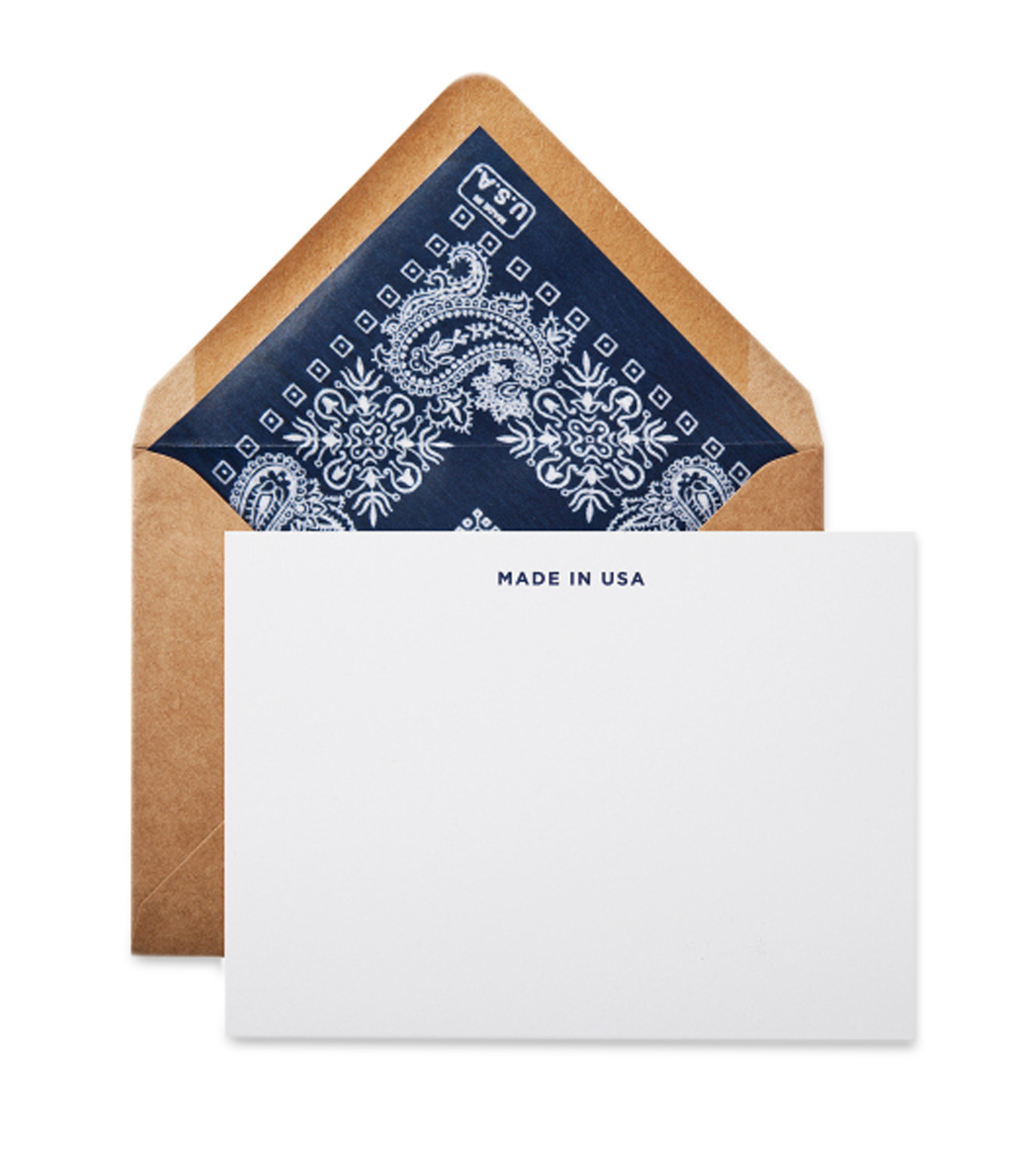 Terrapin Stationers()のNavy liner made in usa note cards-NAVY(アザーズ/others)-Navy-Liner-93 拡大詳細画像1