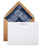 Terrapin Stationers Navy liner made in usa note cards