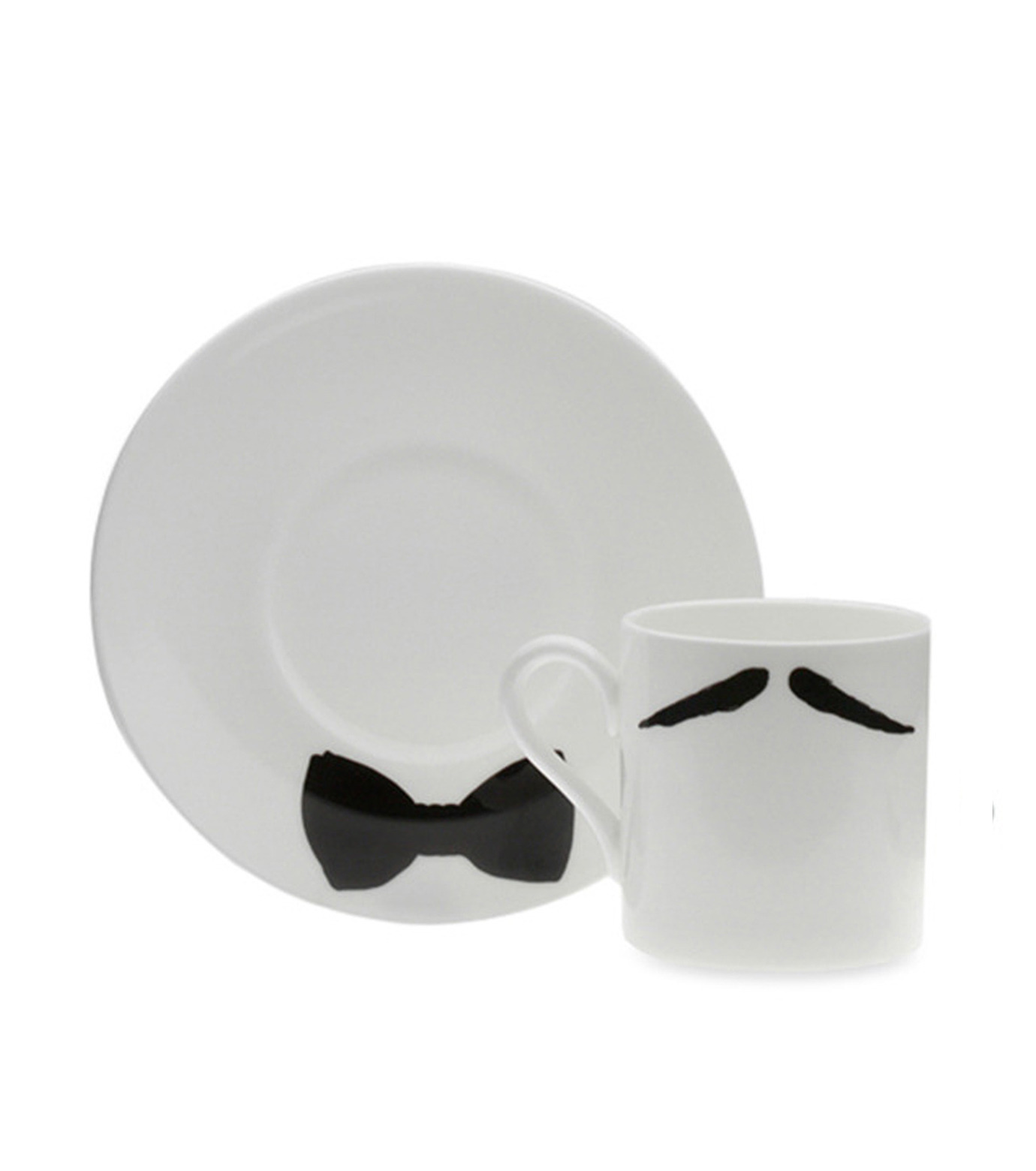 Peter Ibruegger(ピーター イーブルガ)のEspresso Cup & Saucer Maurice Poirot-WHITE(キッチン/kitchen)-O05-W-4 拡大詳細画像1